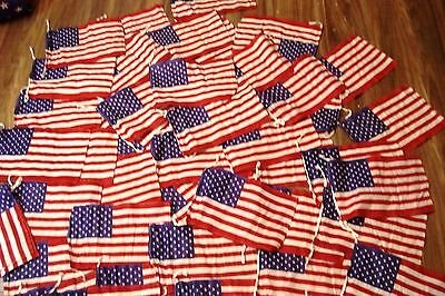 Lot of 25 pcs USA Flags - American Flag United States - 100% COTTON