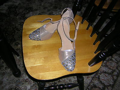 Womens Ballroom Shoes Size 9 Gold And Black