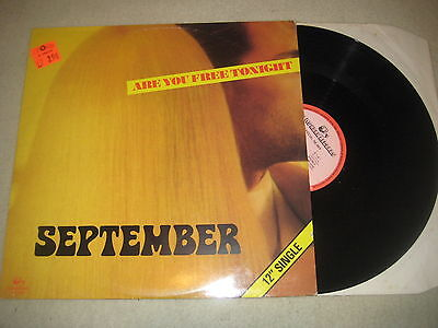 September - Are you free tonight   Maxi Vinyl 12""