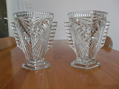 Stunning Art Deco Glass Vases.