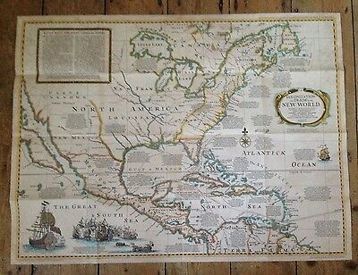 1977 National Geographic Society Large Map - Colonization In The New World