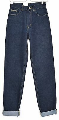 NEW Vintage Calvin Klein CK High Waisted Blue TAPERED MOM Jeans Size 8 W26 L32
