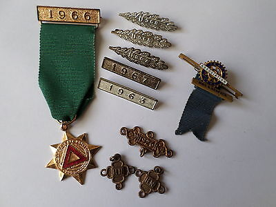 Vintage 1960s Royal Soc Prevention Accidents & Inner Wheel Ass medal & year bars