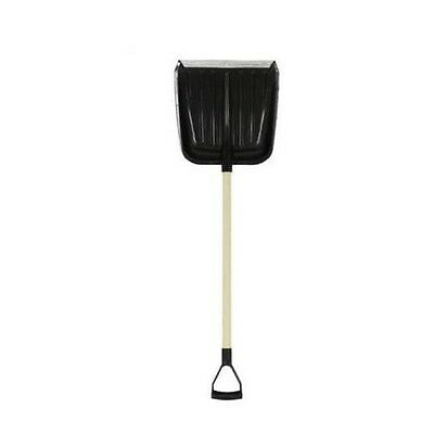 Snow Shovel Curved Scoop Wooden Handle Metal Lip 117cm Scooping Snow D-handle