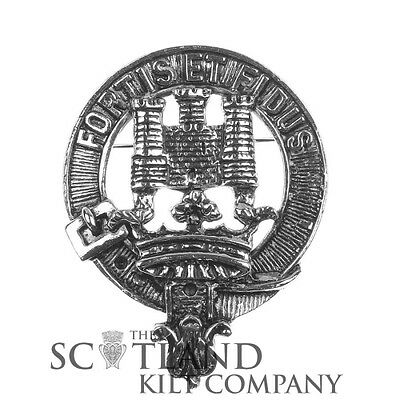 Scottish Made MacLachlan Clan Crested Coat of Arms Boxed Cap Badge by Art Pewter