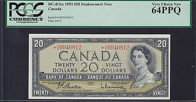 1954 Bank of Canada $20 BC-41bA Replacement Note - PCGS Very Coice New 64 PPQ