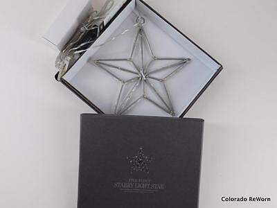 """Restoration Hardware 8"""" Starry Lights 5 Point Dangling Christmas Holiday Star"""