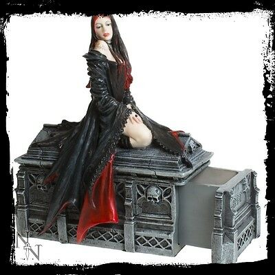 Nemesis Now/ Anne Stokes Figurine Await the Night with secret drawer