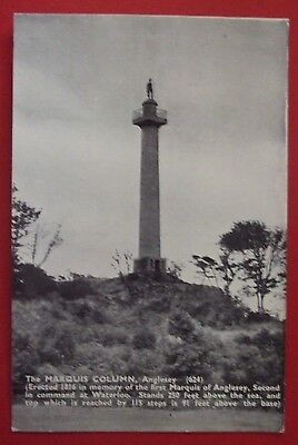 RP Postcard c.1930 THE MARQUIS COLUMN ANGLESEY WALES
