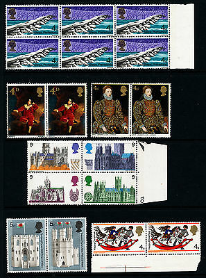 G451  Gb Collection Of Commemorative Mint Never Hinged Stamps Issued 1967-9
