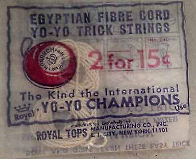 1 PKG Old stock Egyptian Fibre Cord YoYo Strings 2 per pack FREE USA SHIPPING !