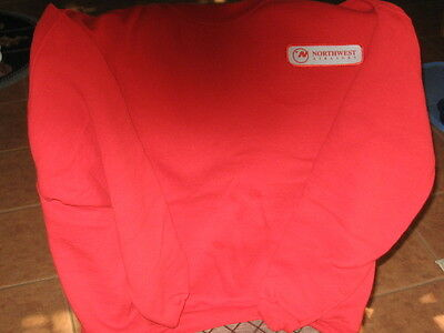 Northwest Airline Ramp Agent Red Sweat Shirt Large