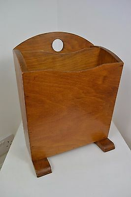 VINTAGE 1930's ART DECO WOOD ENGLISH MADE MAGAZINE RACK GREAT CONDITON