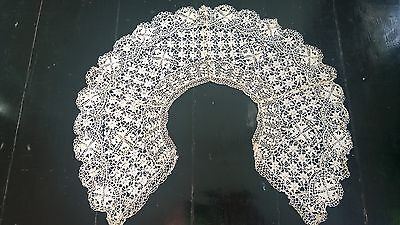 Intricate Antique Maltese Lace Collar