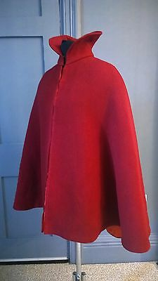 Striking 1890s Red Wool Cape - Victorian Antique