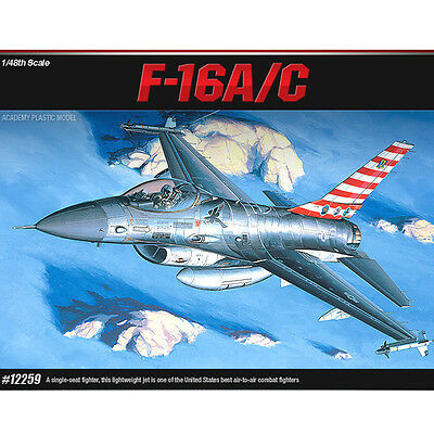 Academy 1/48 F-16A/C Falcon USAF Plastic Model Kit Falcon Airplanes #12259