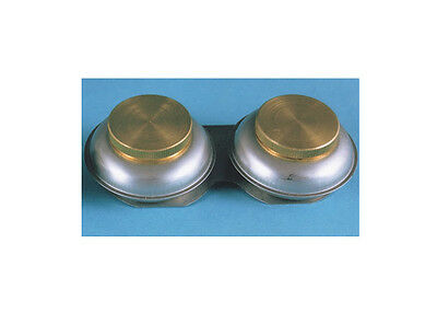 Richeson Large Double Metal Palette Cup with Brass Cover 694017