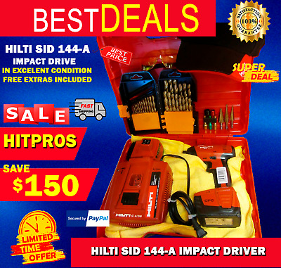 Hilti Sid 144-A Impact Driver, Free Extras Included, In Excellent Condition