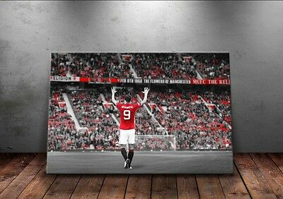 Zlatan Ibrahimovic 'Number 9' A3 Canvas