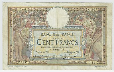 FRANCE LUC OLIVIER-MERSON TYPE 2.8.1913 100 FRANCS LAFERRIERE-PICARD (PICK#71a)