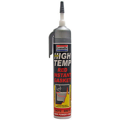 Granville Extra High Temp Red Instant Gasket Power Can Silicone Sealant 200ml