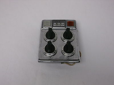Nice Jenn Air Control Panel W/5 Switches And Knobs Red Lamp Used
