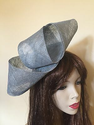Fascinator Silver Grey Hatinator Gray Wedding Hat Formal Ladies Headpiece