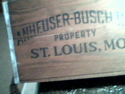 Anheuser- Bush Beer Crate With Checkerboard Top