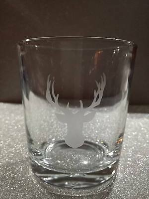 Stag's Head Design Whisky Tumbler Glass Set of 4 SPECIAL OFFER