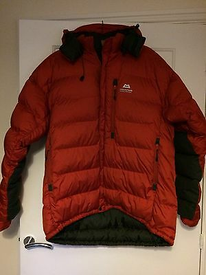 Men's Mountain Equipment Hooded Red Down Jacket - size XL
