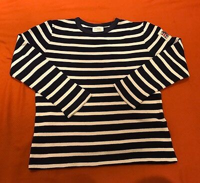 Breton Navy And White Striped Boys Top Boden Age 7-8