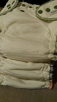 Lot of 3 Sustainablebabyish XL OBF Overnight Bamboo Fitted Diaper Sloomb