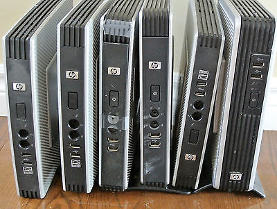 Lot of SIX (6) HP Thin Client Terminals - T5720 1GHz 512MB Windows XP - READ