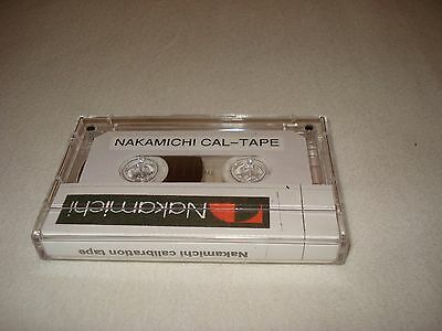 Carlibation Reference azimuth tape for Nakamichi decks