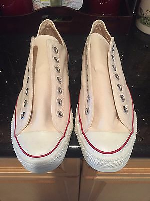 Vintage 1970s Converse White Low Top Made In USA Men Size 9