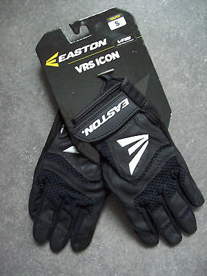 Easton Vrs Icon Youth Black/black Youth Small Batting Gloves New