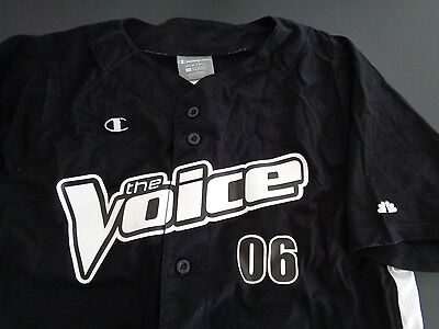 THE VOICE Music TV Show PROMOTIONAL Jersey 2006 Champion FREE SHIPPING Medium