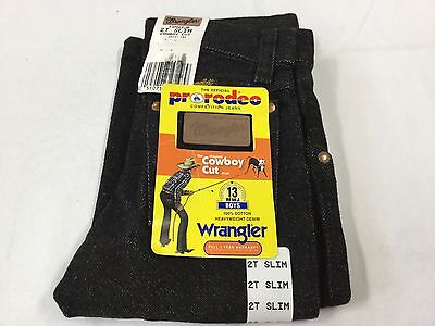 Wranglers ~ Toddler Pro Rodeo Jeans ~ BLACK  ~ Size 2 T Slim