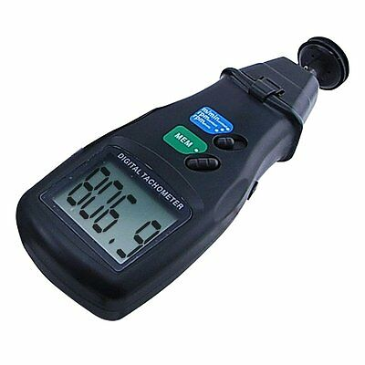 2in1 Digital Laser Photo Tachometer Non & Contact RPM DT-6236B