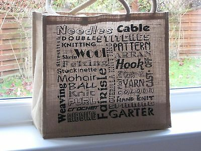 Big Jute Bag for your knitting and crafts