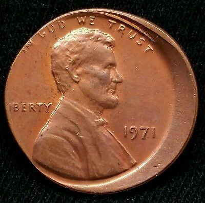 1971 Lincoln Cent Off Center Mint Error Uncirculated Beautiful Coin E103