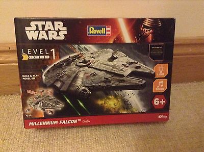 brand New Star Wars Revell Millennium Falcon build & play model kit sound lights