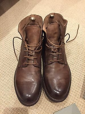 Officine Creative Brown Lace Up Boots UK Size 7, Brand New With Box