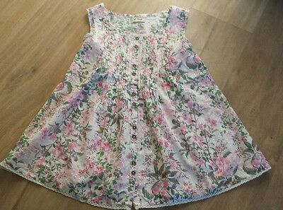 Girls pretty floral next tunic top age 9 years bnwot