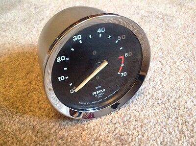 SMITHS ELECTRONIC REVCOUNTER  REMANUFACTURED 4in 4 Cyl , Triumph ,Mg , Kit Car