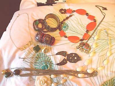 Mixed Lot of Costume Jewelry - rings, bracelets, necklaces - modern