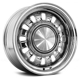 """FORD FALCON GT 12 SLOT WHEELS - USA MADE- 14X7,8 (15"""" also available) INC CAPS"""