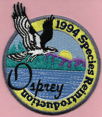 RARE Pa Pennsylvania Game Fish Commission related State Park 1994 Osprey patch