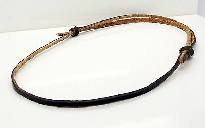 Brown Leather Cord Necklace Handmade Adjustable Sliding Knot Choker By TaKuKai