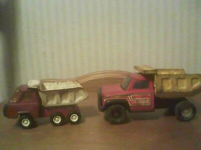 Two Small Vintage Buddy-L Toy Dump Trucks
